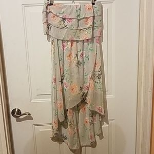 Charlotte Russe medium Floral strapless dress